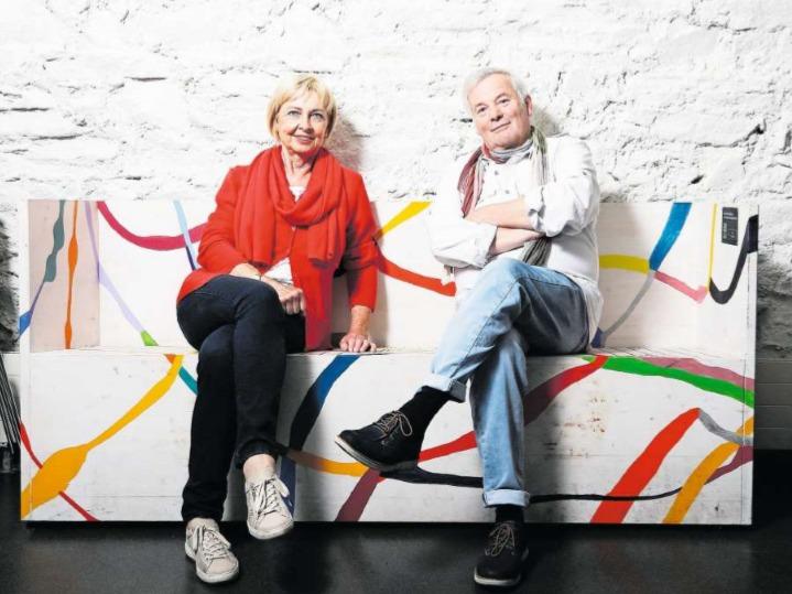 Judith Wild wirkte während 22 Jahren als Stiftungsratspräsidentin, Roland Schlumpf hatte die Theaterleitung 24 Jahre lang inne.Sie beide haben das Zuger Kleintheater massgeblich geprägt. (Bild Stefan Kaiser)