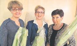 Die Wiedergewählten (von links): Claudia Nauer (Kassierin), Priska Besmer (Präsidentin), Marlène Bigall (Rechnungsprüferin). Bild zvg