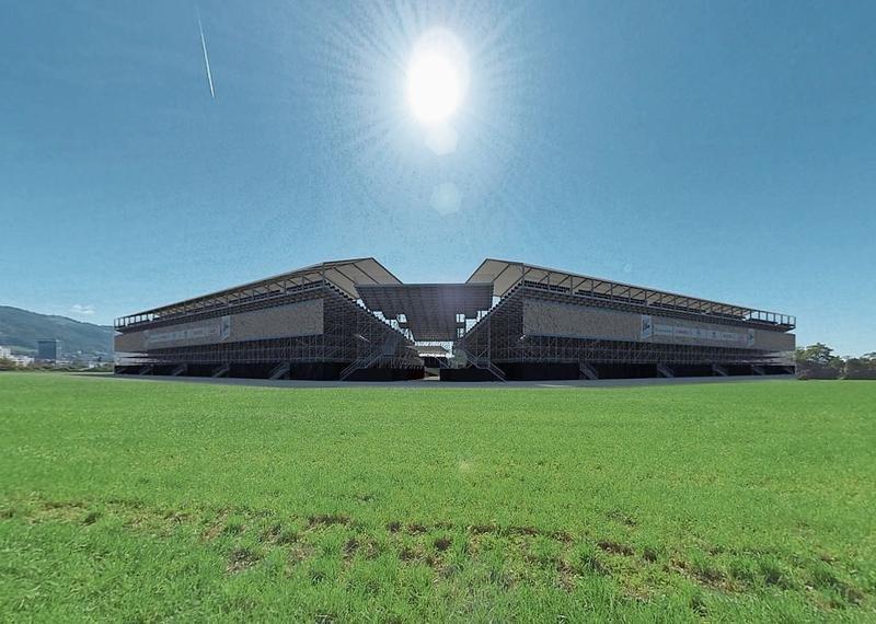 Die Tribünen der Arena sind 18 Meter hoch. (Bild Screenshot schwingfest.mpseuropa.ch/tour)