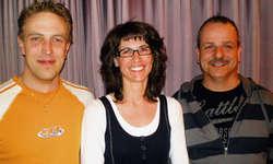 Präsidentin Karin Theiler mit den neuen Vorstandsmitgliedern Martin Grätzer (rechts) und Roland Zehnder. Foto: zvg