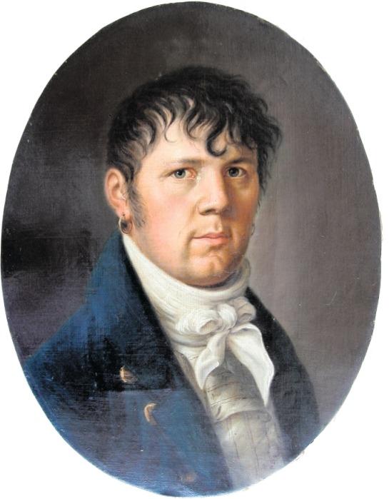 Johann Kaspar Moos (1774–1835), Selbstbildnis um 1832. (Bild Museum Burg Zug, Inventarnummer 10774)