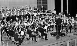 Jodler, Jugendmusik Siebnen und Sinfonieorchester Ausserschwyz trugen unter der Leitung von Urs Bamert «Jahreslauf der Natur» vor. Bild Lilo Etter