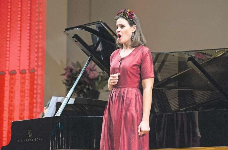 Die Luzerner Sopranistin Regula Mühlemann im Casino Zug. (Bild Maria Schmid)