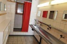 Einer der drei Waschräume.