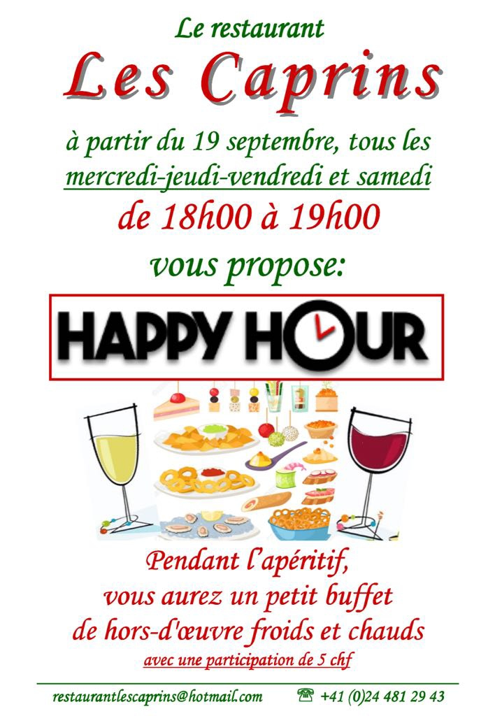 Happy Hour aux Caprins @  |  |
