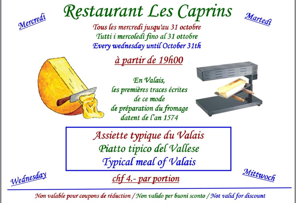 Raclette aux Caprins @  |  |
