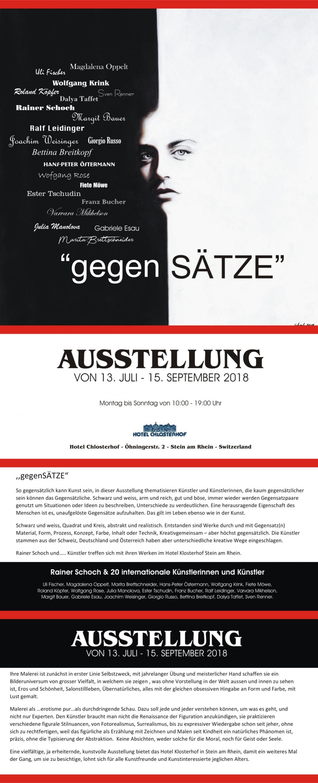 Ausstellung Exhibition gegenSÄTZE