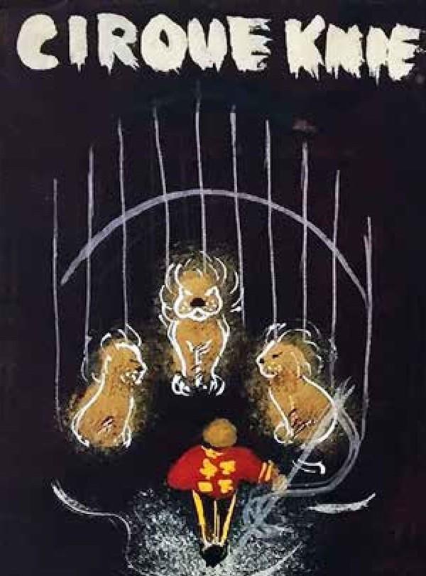 Die Zirkus KNIE-Plakatentwürfe des Lenzburger Künstlers Hans E. Walty