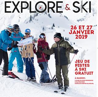 Explore & Ski - Jeu de pistes à ski gratuit @      