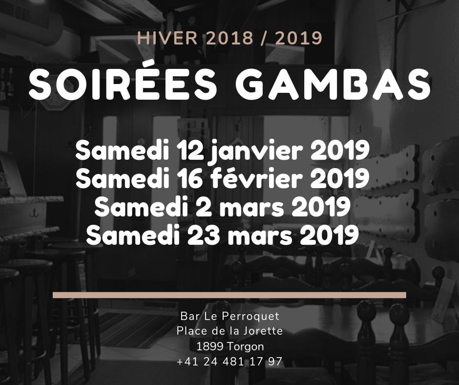 Soirées Gambas au bar Le Perroquet @  |  |