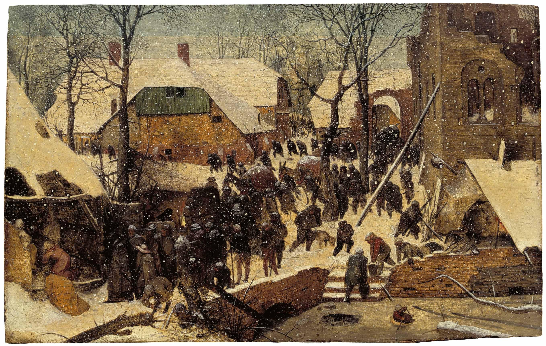 Das Wunder im Schnee - Pieter Bruegel der Ältere