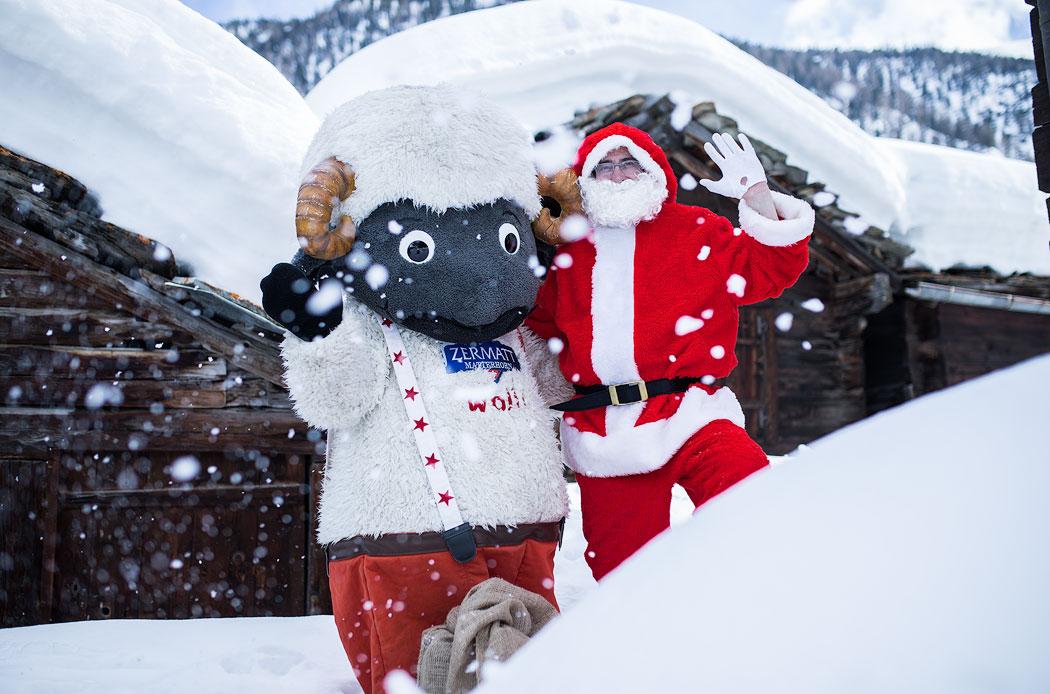 Wolli und Nikolaus in Zermatt