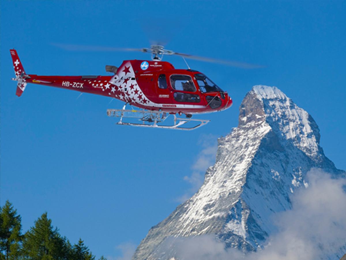 Besuch der Air Zermatt