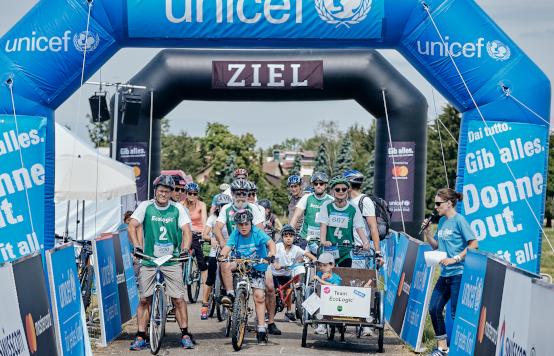 © UNICEF/Borgognon: C4C Start & Ziel, Village in Uster 2019
