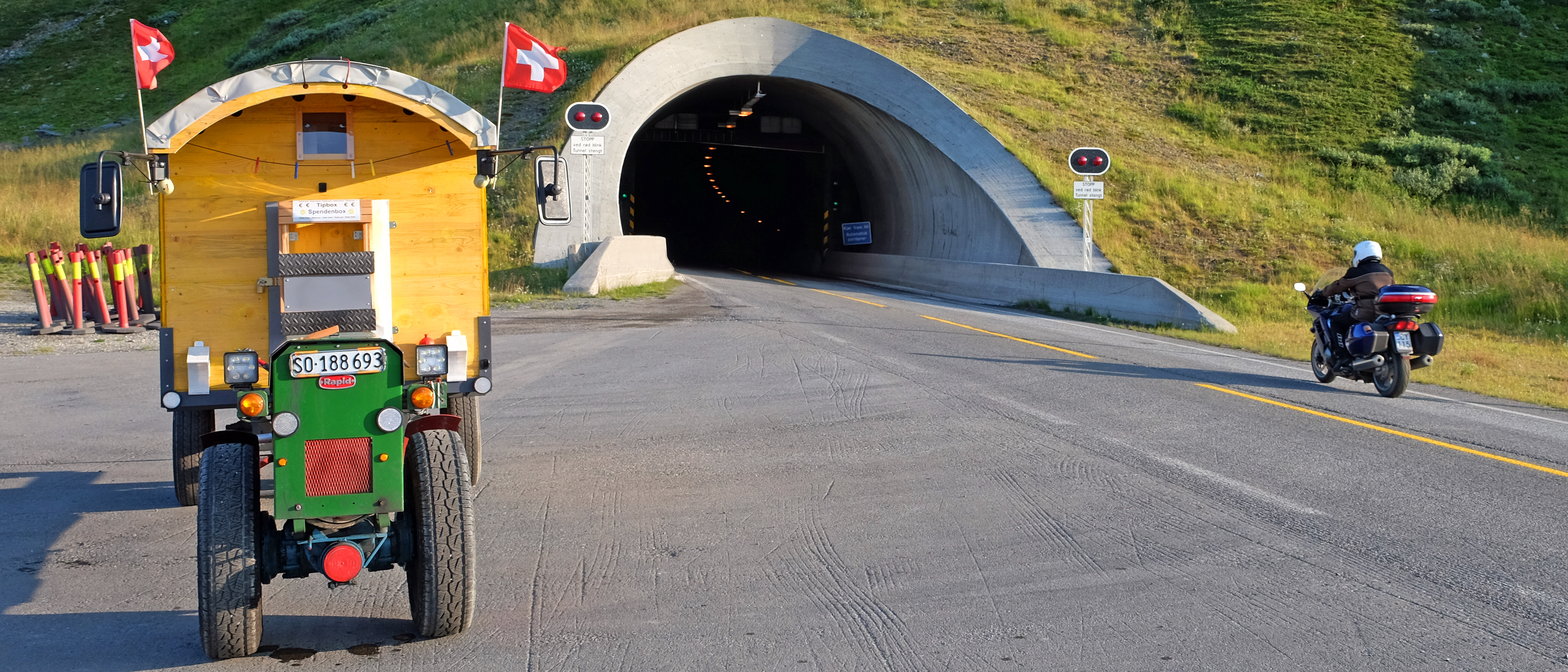 Beim Nordkaptunnel