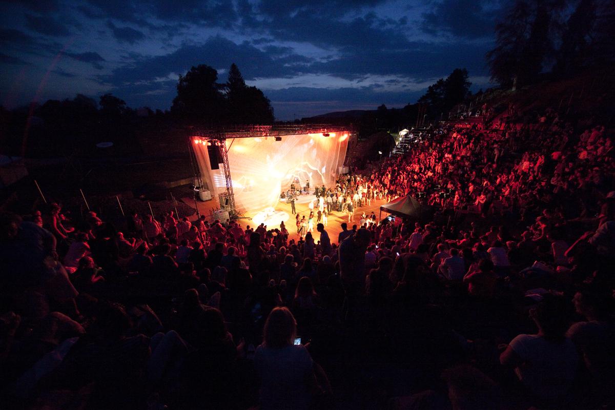 Theater Augusta Raurica at night, Foto: Susanne Schenker