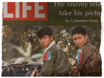 Cover Life Magazine, February, 1968 © Dotation Catherine Leroy / The Life Picture Collection