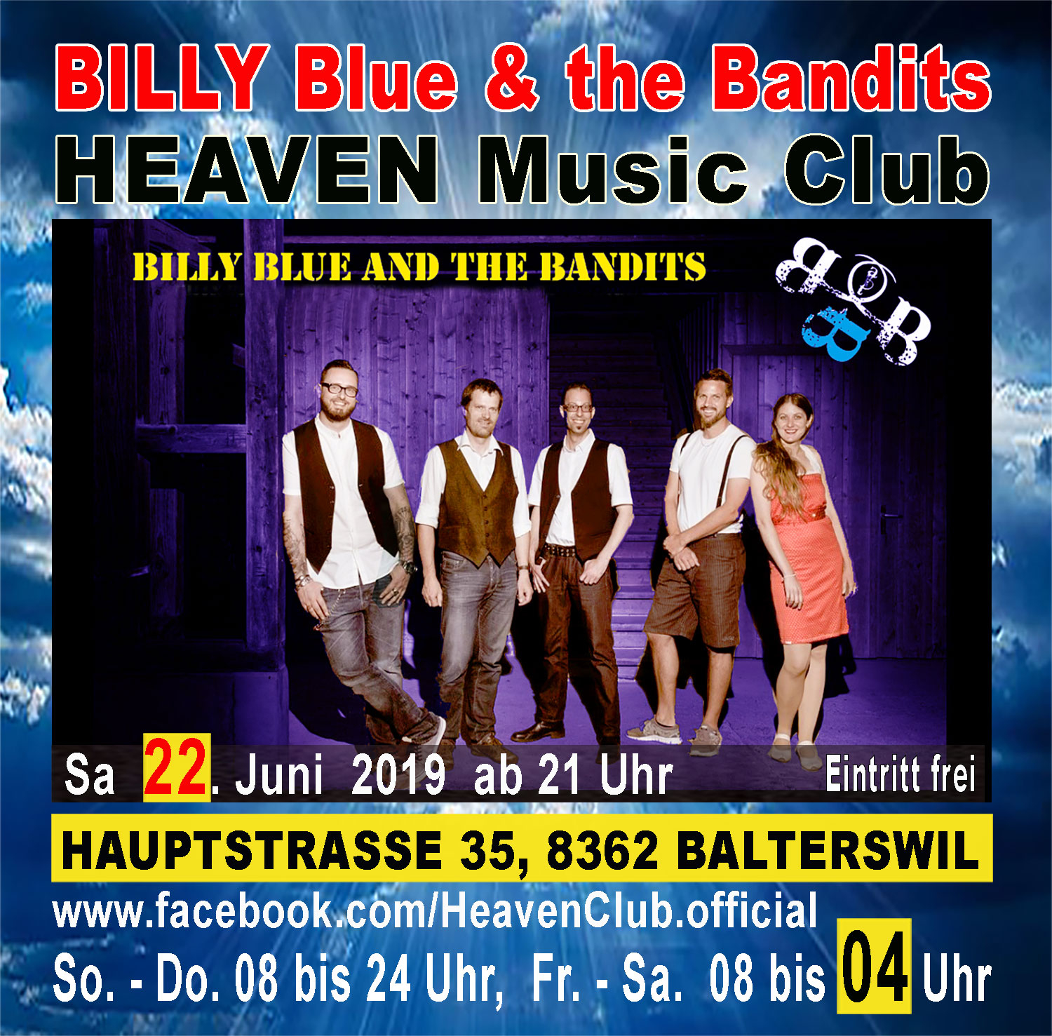 Billy Blue and the Bandits live