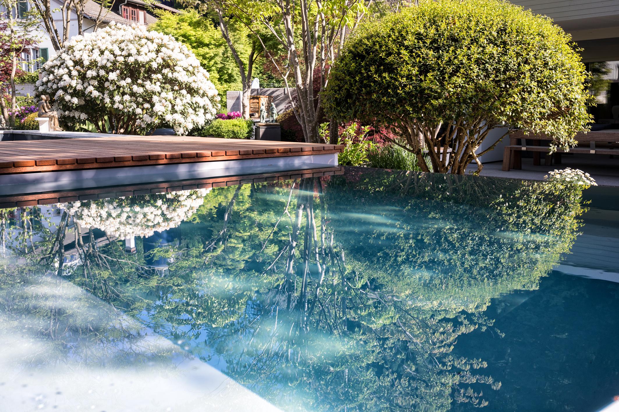 Infinity-Pool in der Gartenvilla