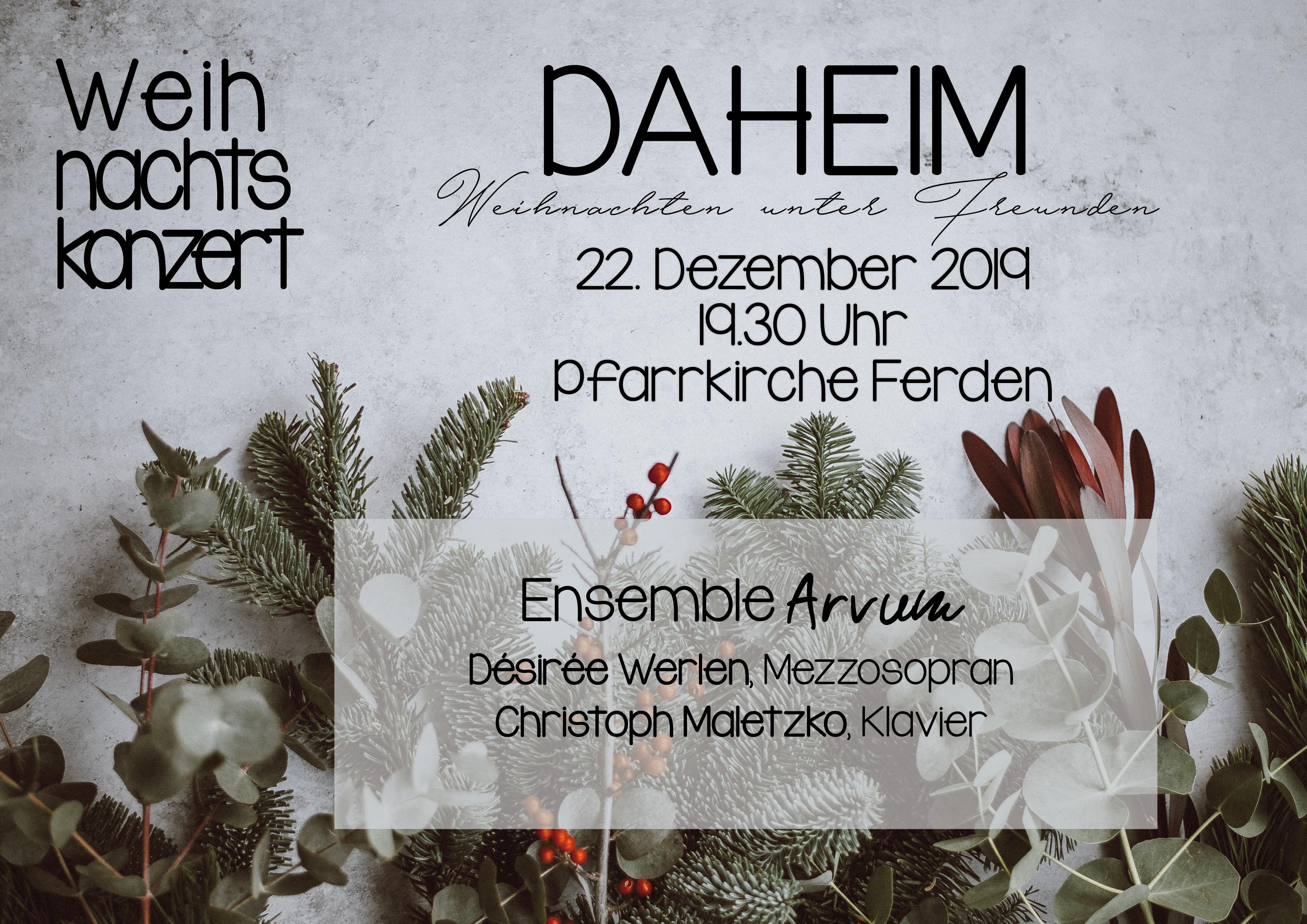 Weihnachtskonzert Ensemble Arvum