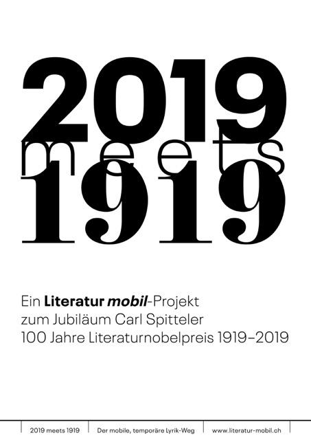 2019 meets 1919 - der mobile, temporäre Lyrik-Weg beim Tellmuseum