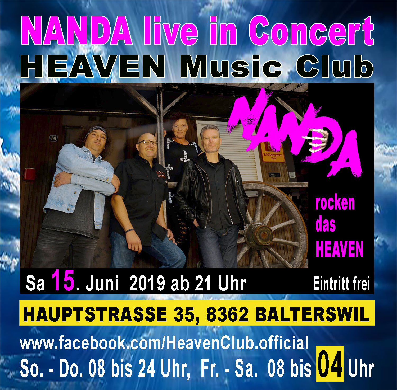 NANDA, kompromissloser Rock, live in Concert