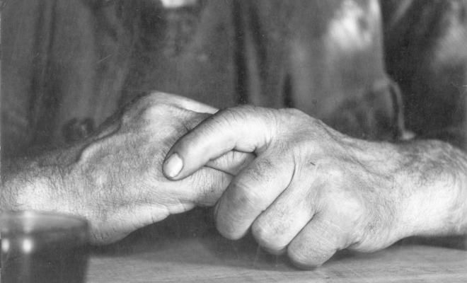 Correze, mains de paysan, 1966