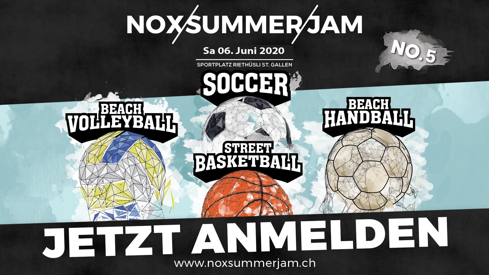 NOX Summer Jam 2020 - Fussball, Beachvolley & Street Basketball