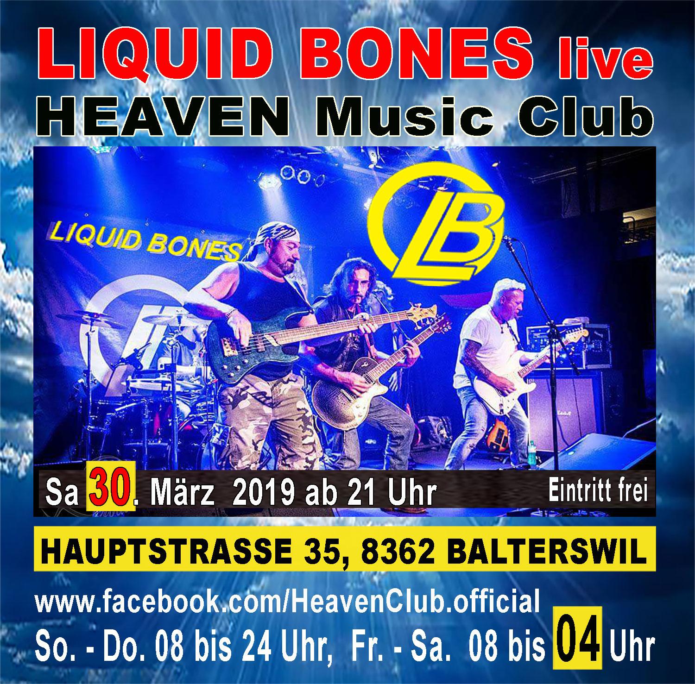 LIQUID BONES live im HEAVEN; Eintritt frei