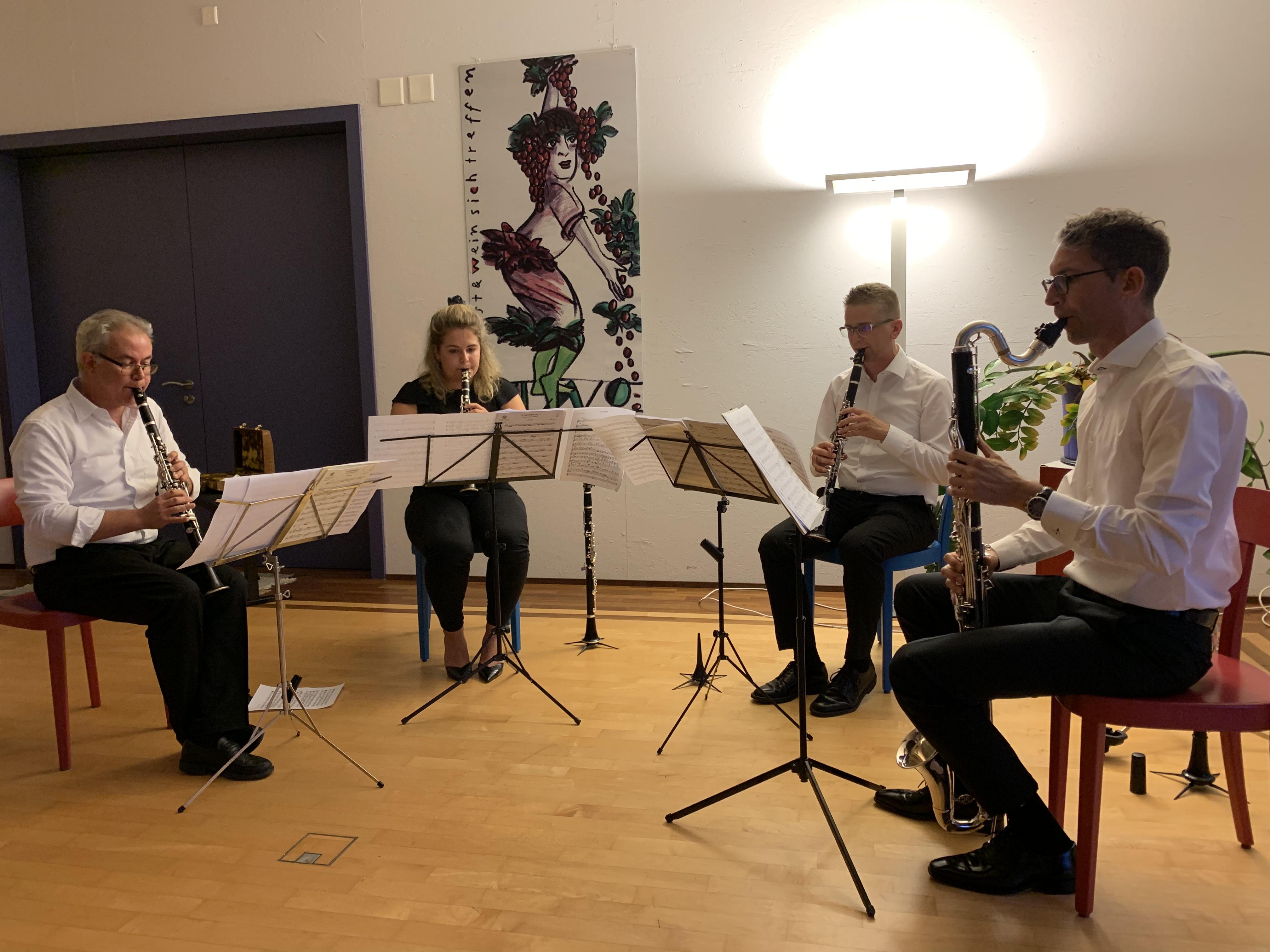 Ensemble 4 Clarinets: Böhm, Daetwyler & Beethoven - Pilgerhof Lachen