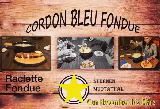 Cordonbleu Fondue im Restaurant Sternen