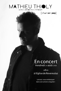 Concert de Mathieu Thioly - Concert de musique Pop @  |  |