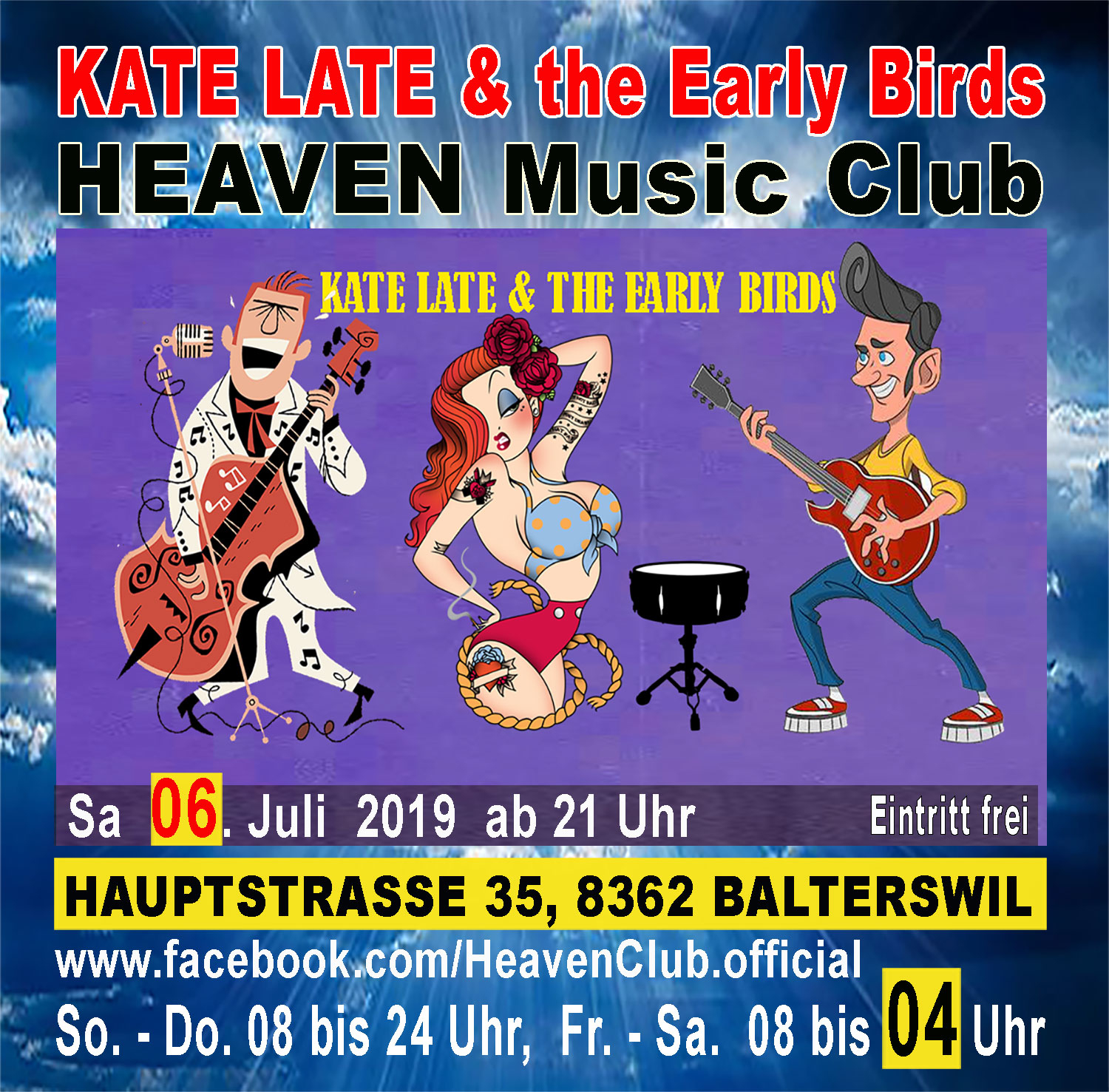 Kate Late and the Early Birds mit 50s Rockabilly live